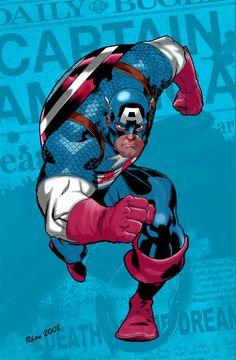 CAPTAIN AMERICA Returns by gvelasco Marvel Comic Books, Marvel Art, Marvel Heroes, Comic Books Art, Comic Art, Dc Comics Superheroes, Marvel Dc Comics, Steve Rogers, Ride Captain Ride