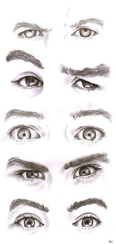 eye expressions; drawing