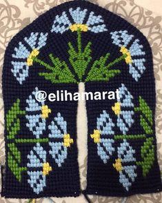 Diy Crafts Crochet, Crochet Home, Diy Crafts Images, Baby Knitting Patterns, Crochet Patterns, Tunisian Crochet Stitches, Crochet Slippers, Knitting Socks, Beaded Flowers