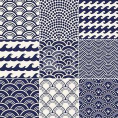 Papier peint motif de vagues de l                                                                                                                                                     Plus