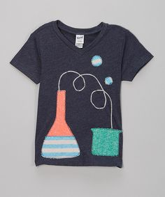 Love this Navy Crazy Science V-Neck Tee - Infant by little bits on #zulily! #zulilyfinds