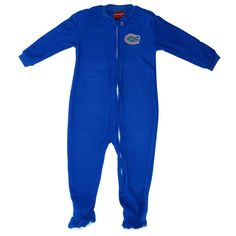 Florida Gators Infant Sleeve Blocked Blanket Sleeper Bodysuit - Royal Blue