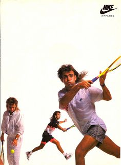 vintage Agassi / Nike ad...I was always a Sampras fan, but this just takes me back to childhood so I can't help but love it.