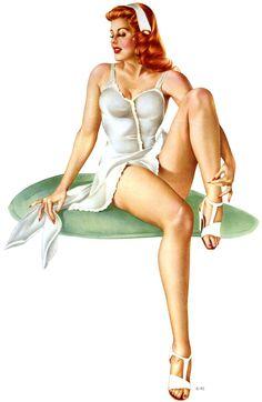 Alberto Vargas, ca. 1940s.  http://www.pinterest.com/jr88rules/nose-art-pinup-girls/  #PinupGirls  #vintagepinupgirl