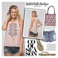 """""""Cool Season!"""" by helenevlacho ❤ liked on Polyvore featuring Andree By Unit, Anja, MIA and knittedbelle"""