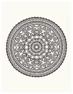 idea for painted round table, template mandala