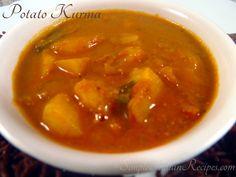 Cubed Potatoes, Stewed Potatoes, Alu Paratha, Easy Indian Recipes, Ethnic Recipes, Vegetarian Gravy, Aloo Gobi, Potato Curry, How To Cook Potatoes