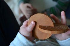 Montessori interlocking wooden disks