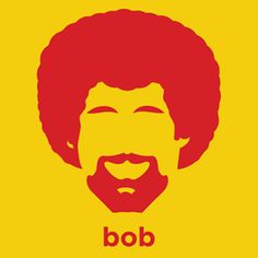 We think Robbie would love this....       Bob Ross T-Shirt from Hirsute History