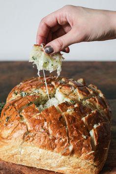 Cheesy Herb + Garlic Sourdough