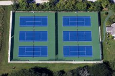 Commerical Tennis Court US Open Blue and Light Green