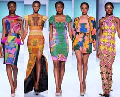 """African Fashion week los angeles Nigerian label Iconic Invanity's Spring/Summer 2013 collection """"Luxury Sweet Candy."""