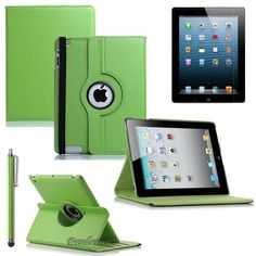 Pandamimi ULAK(TM) The New iPad 3rd & 4th Generation Green 360 Rotating Magnetic Smart Cover Portfolio Case W/Bluit in stand (Multi stand function) - Puts the iPad 4 & 3 to Sleep and sleep+Stylus By ULAK by Pandamimi. $11.99. Stands up perfectly for FaceTime or watching movies and there is a cut out for the rear camera so that you can use the camera without removing the iPad 3 or iPad 4 from the case. Other features of the case include the ability to fold into the perfect typin...