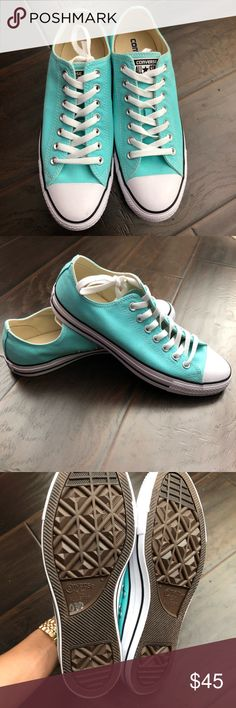 NWOT Converse All Star Shoe in Mint. (Unisex ) NWOT Converse All Star Shoe in Mint. Unisex converse 9men,11women pls check out the pictures size also showed in the pictures. Make me an awesome offer if you're interested thanks. Converse Shoes Sneakers