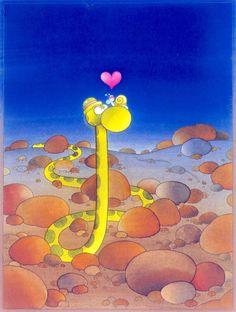 The Exhibition of Cartoon / Mordillo / Argentina :: Romanticism Paintings, Caricature Drawing, Puzzle Art, Skottie Young, Humor Grafico, Cartoon Art, Painted Rocks, Illusions, Folk Art