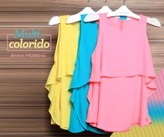 Anna Morena | Spring Summer Lookbook 2015 | Lookbook Primavera Verão 2015 | regatas coloridas; moda feminina; tendência; trend.