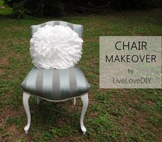 Reupholstering a thrift store chair