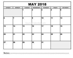 2018 Calendar Printable Free, May 2018 Calendar, 2018 Calendar Template, December, Clip Art, Printables, Templates, Holidays, Words