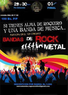 Cresta Metálica Producciones » RAGNAROCK PRODUCCIONES ANUNCIA SU 1ER CONCURSO DE BANDAS DEL ROCK & METAL EN BARQUISIMETO