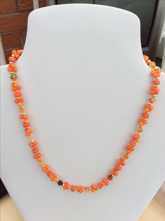SOLD - Coral and Carnelian
