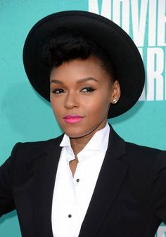 Janelle Monae (yes to the pink lip!)