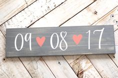 Wooden Save The Date Sign, Gray Wash Wood, Wedding Date Sign, Engagement Photo Prop Sign, Rustic Wooden Wedding Sign | 20x5.5