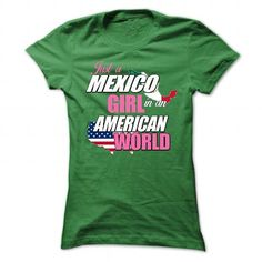 Just a Mexico Girl In an American World - #sweatshirt embroidery #gray sweater. LOWEST PRICE => https://www.sunfrog.com/States/Just-a-Mexico-Girl-In-an-American-World-Green-47989771-Ladies.html?68278