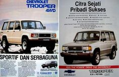 Chevy / Isuzu Trooper Indonesian Ad
