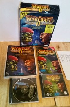 #WARCRAFTII 2 #TidesOfDarkness Original With Manual+ #ExpansionSet CD Bonus - PC