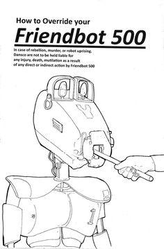 Robot Maintenance  by Becky Armstrong, via Behance