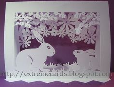 Easter pop up card. Cutting files.  Silhouette Cameo.  Template.  SVG.