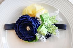 Blueberry Limeade Headband by JensBowdaciousBows on Etsy