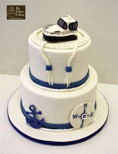 Nautical Buttercream Birthday Cake  Pinteres - Boat birthday cake ideas