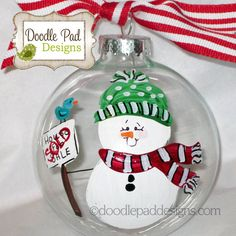 Personalized Realtor Snowman Christmas by doodlepaddesigns on Etsy, $12.95
