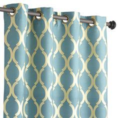Pier 1: Moorish Tile Grommet Top Curtain - Teal... cute as a shower curtain (put two together with a liner)