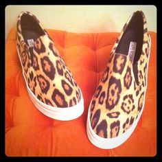 """Leopard Print Slip Ons NWOT! Hard to Find this Style in this Size! Trendy Leopard Print Slip Ons. Thick Crisp White Platform Soles. Elasticized Sides make it easy to slip these on and off without bothering with laces. Says """"11"""" on the soles' bottoms. But these actually fit like 10-10.5. Brand New. Excellent Condition. No Trades. Cape Robbin Shoes Sneakers"""