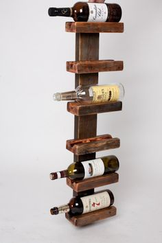 reclaimed wood wine rack by on etsy