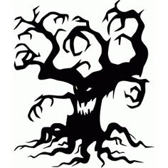 Silhouette Design Store - View Design #92163: creepy tree halloween