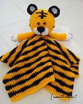Ravelry: Tiger Lovey Security Blanket pattern by Carolina Guzman