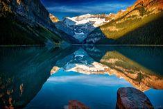 Dreamy Mirror by Edward Marcinek  Snow Peaks Reflecting in Lake Louise, Canadian Rockies Edward Marcinek: Photos          500px