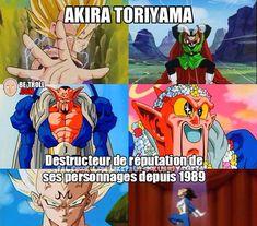 Dragon Ball Z Photo: What Akira Toriyama Does. Dbz Memes, Cartoon Memes, Film Anime, Anime Manga, Dragon Ball Z, Rage, Funny Dragon, Video Humour, Black Anime Characters