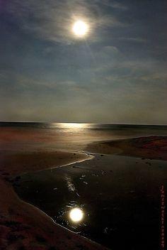 Ormond Beach Moonrise, Florida