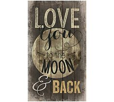 Graham Dunn Love You to The Moon and Back Distressed Design 24 x 14 Wood Pallet Wall Art Sign Plaque Wooden Pallet Crafts, Pallet Wall Decor, Barn Wood Crafts, Wood Pallet Signs, Pallet Art, Diy Pallet Projects, Wooden Diy, Wood Pallets, Wooden Signs