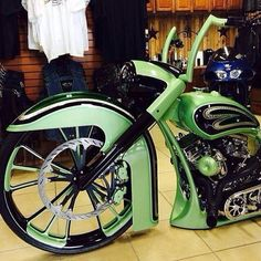 Mint green custom bagger.