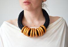 Gold Statement Necklace, Tribal Necklace, Ethnic Jewelry, Minimalist Jewelry