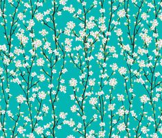Cherry Blossom fabric by manuela_tan on Spoonflower - custom fabric