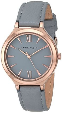 Anne Klein Women's AK/1846RGGY Rose Gold-Tone and Gray Leather Strap Watch Anne Klein http://www.amazon.com/dp/B00LBMGGJU/ref=cm_sw_r_pi_dp_S7Kvwb1BAPFS8