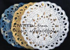 Dishcloth PATTERN 4 Washcloth Coaster Doily Hotpad | Etsy Pdf Patterns, Easy Crochet Patterns, Knitting Patterns, Crochet Gifts, Hand Crochet, Crochet Baby, Bridesmaid Gift Baskets, Crochet Scrubbies, Baby Washcloth