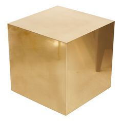 // Side Table / Birgit Israel--- could build a box out of plywood and then spray it gold. Or metallic. Or neon.