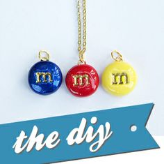 """""""m"""" Pendant Necklaces"""